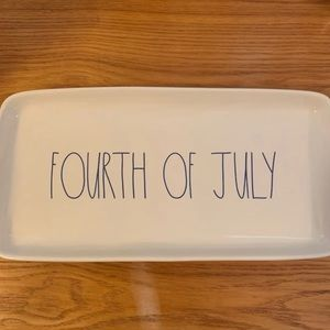 Rae Dunn Fourth of July serving plate